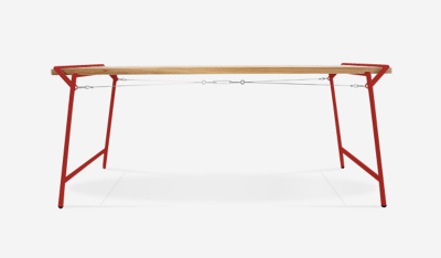 Atlas Dining Table Signal Red
