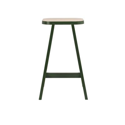 Bar Stool Three Beech, Oxford Green, 65 cm Height