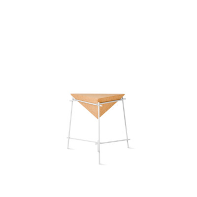 Basil Pyramide Side Table White