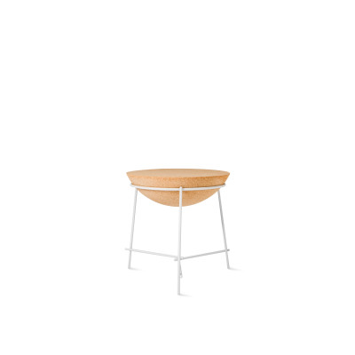 Basil Sphere Side Table White