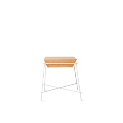 Basil Trapèze Side Table White