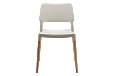 Belloch Dining Chair White with Wooden Legs