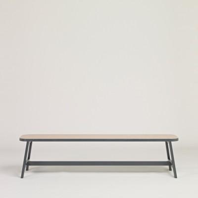 Bench Three Beech, Chamberlayne Grey, 140 cm