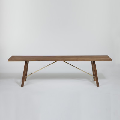 Bench Two Walnut, 200 cm