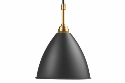 Bestlite BL9 Pendant Light Charcoal Black and Brass, Small