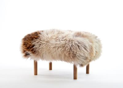 Bethan Sheepskin Footstool Rare Breed