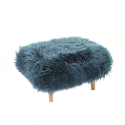 Bethan Sheepskin Footstool Teal
