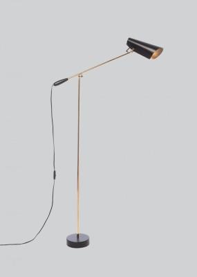 Birdy Floor Lamp Black/Brass, Type G Plug