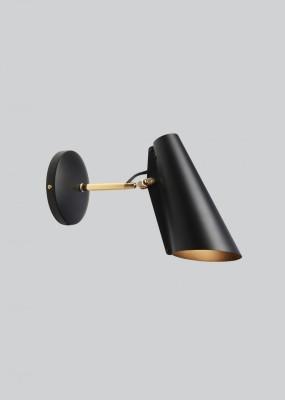 Birdy Short Arm Wall Light Black/Brass