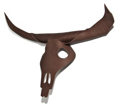 Bison Leather Stag Head Brown