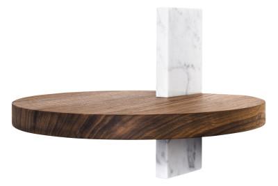 Block Round Shelf  Walnut