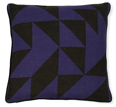 Blue Elber Cushion