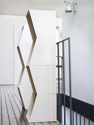 Bookcase TOTEM Set of 2 modular