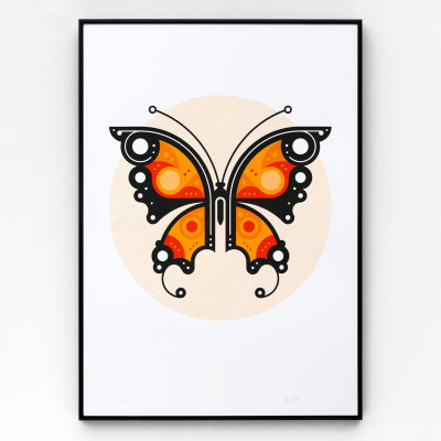 Butterfly #1 A2 limited edition screen print