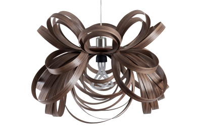Butterfly Pendant Light Walnut, Standard