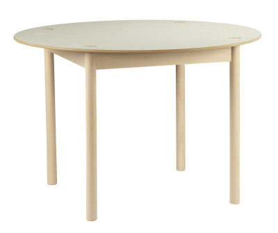 C44 Round Dining Table White Top