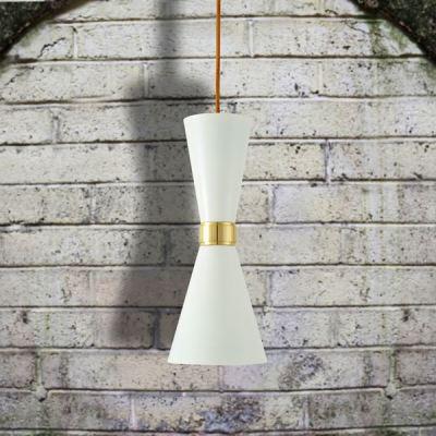 Cairo Contemporary Pendant Light  Powder Coated White