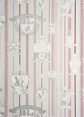 Carpe Noctem Wallpaper Hot Pink, Silver