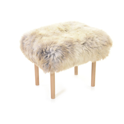 Carys Sheepskin Footstool  Rare Breed