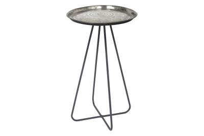 Casablanca Side Table Silver
