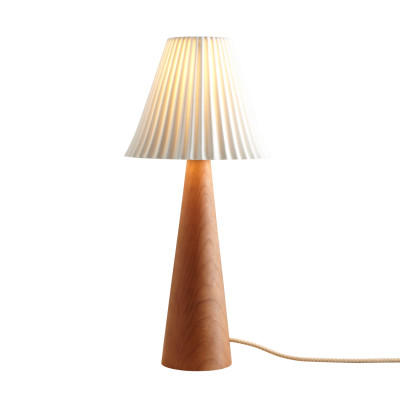 Cecil Table Lamp, Cone Base Cherry Cone