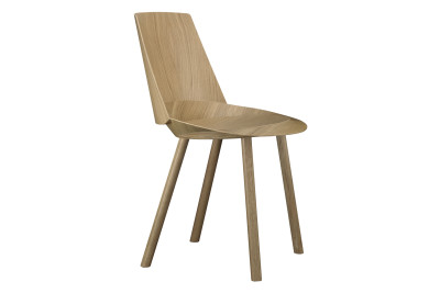 CH04 Houdini Dining Chair Lacquered Oak Veneer