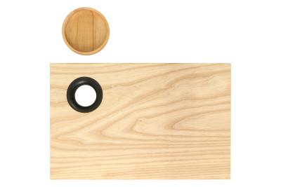 Chopping Board Charred Oak Ring, Small