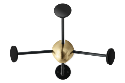 Coatrack Brass and Black