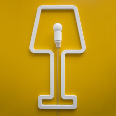 ColouredSHAPE - space saving lamp White