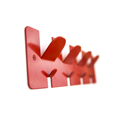Comb Coat Rack Red