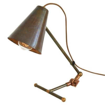 Comoro Table Lamp  Antique Brass