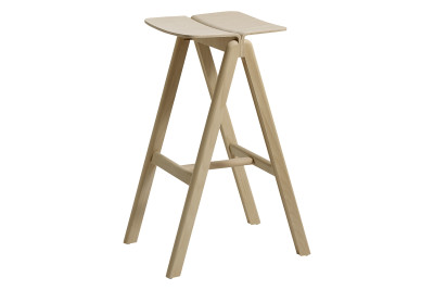 Copenhague Bar Stool Matt Lacquered Beech, Low