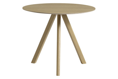 Copenhague Veneer Top Round Dining Table CPH20 Clear Lacquered Oak, Small