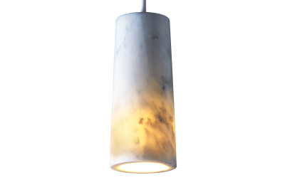 Core Single Pendant Light Carrara Marble