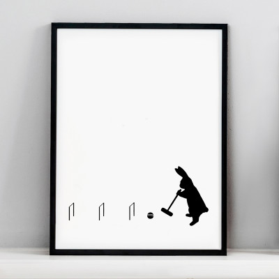 Croquet Rabbit Screen Print Small
