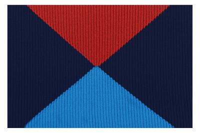 Crossing Wool Blanket Blue & Red