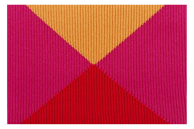 Crossing Wool Blanket Red, Pink & Orange