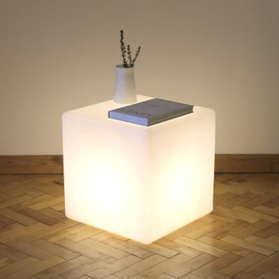Cube Floor Lamp/Side Table