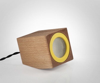 Cubo Lamp Yellow Ring