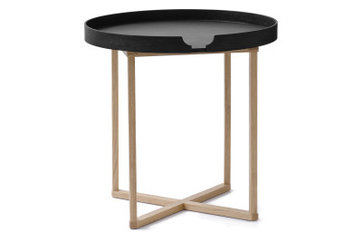 Damien Round Side Table Black