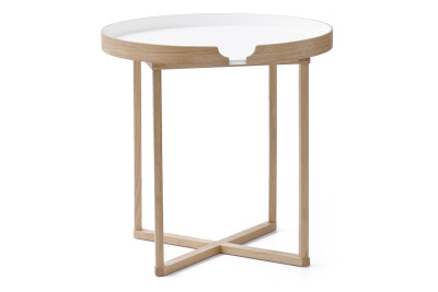 Damien Round Side Table White