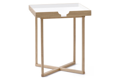 Damien Square Side Table White