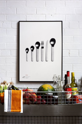 David Mellor Anniversary - Minimal Cutlery Screen Print With Frame