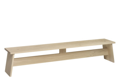 DC02 Fawley Bench White Pigmented Oak, 210 cm