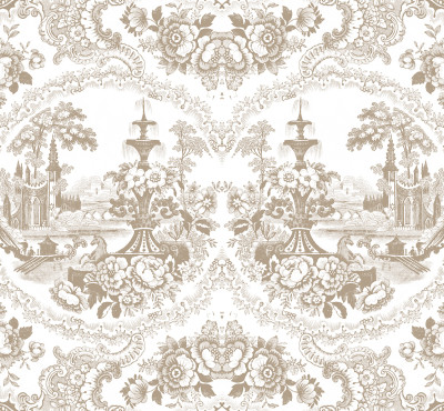 Delft Baroque Wallpaper Beige - Delft Baroque Wallpaper
