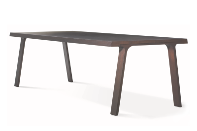 Doble Prolonged Dining Table Carbon Ash, Short