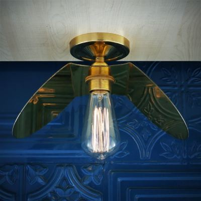 Dodoma Semi Flush Fitting Satin Brass