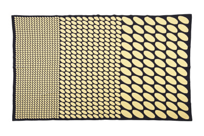 Dots Double Wool Blanket Yellow & Black