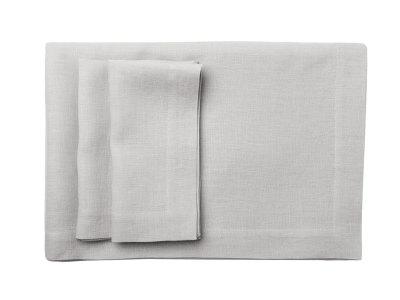 Dove grey table linens table runner 40x120cm