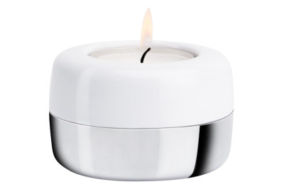 DUO | Candle Holder White & Chrome